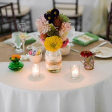 Wedding Table Setting at Bayonet Farm in Holmdel NJ