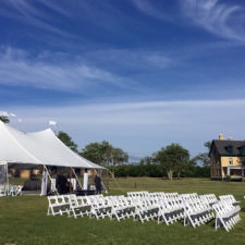 Tented Wedding Reception at the Sandy Hook Chapel in Sandy Hook NJ